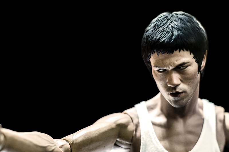 Bruce Lee painting of the martial artist