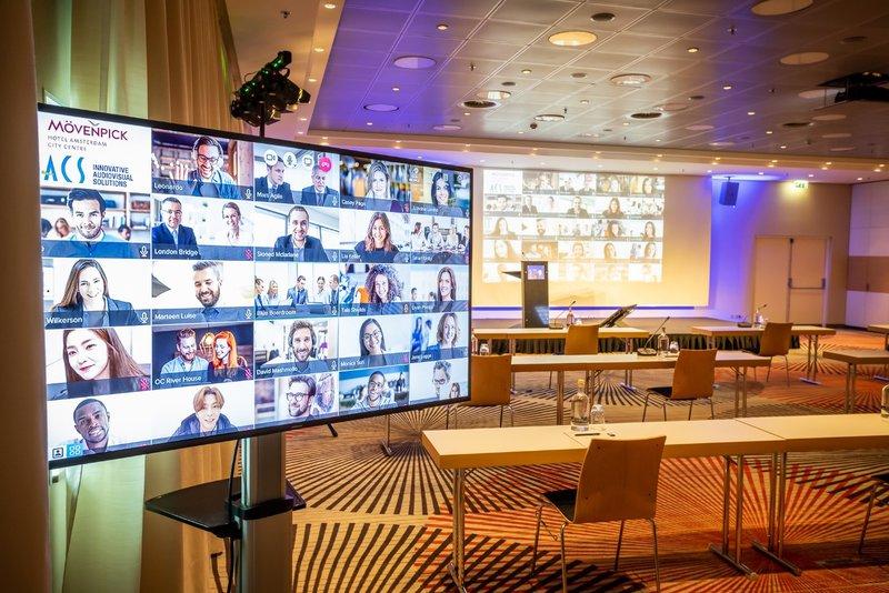 Hybrid meetings at Mövenpick hotel Amsterdam City Centre