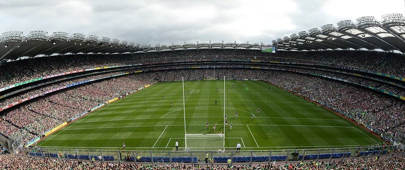 Image of Croke Park Stadium filled with people for a Gaelic match