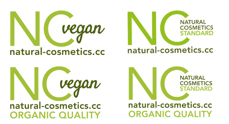 NCS Standard Siegel für Naturkosmetik und Biokosmetik, vegan und normal