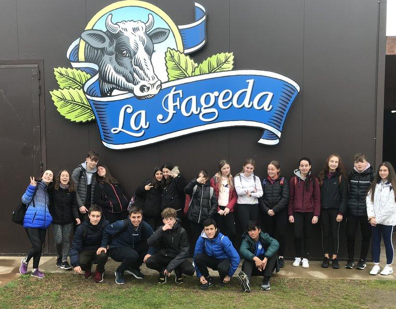 Students at a Farm during their Erasmus+ KA229 School Partnership mobility