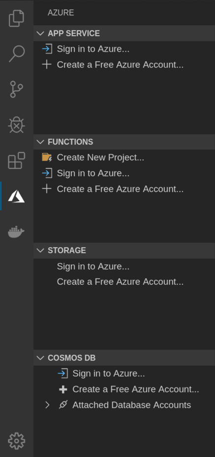 Azure Tools extension for Visual Studio Code