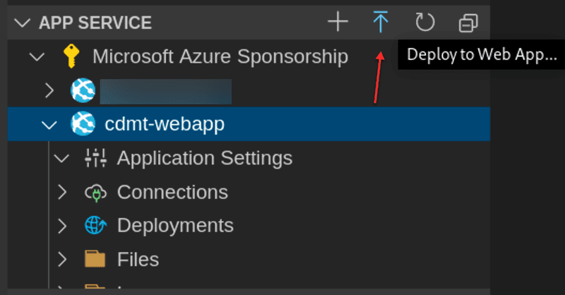 Deploy a web app from Visual Studio Code
