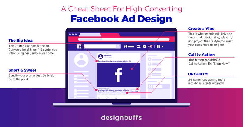 Facebook Ad Design Cheat Sheet