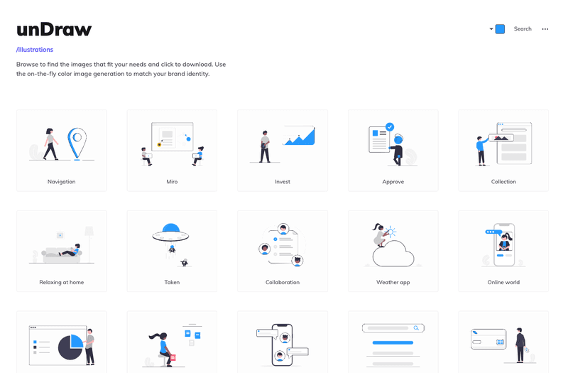 Landing Page Illustrations Undraw