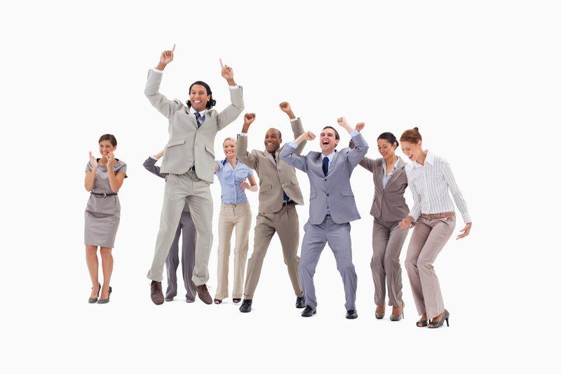 Stock photos for marketing - happy team