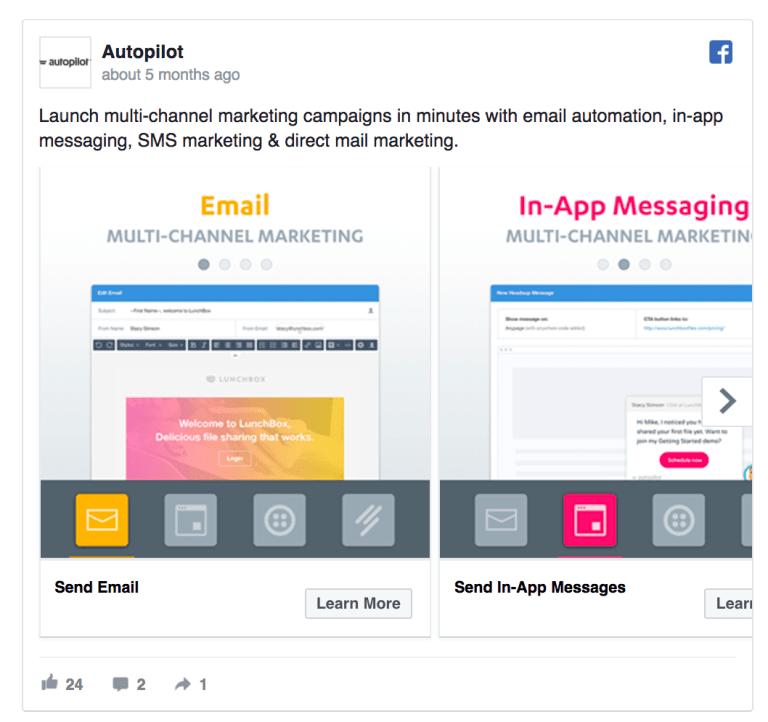 Facebook Ad Design - Autopilot