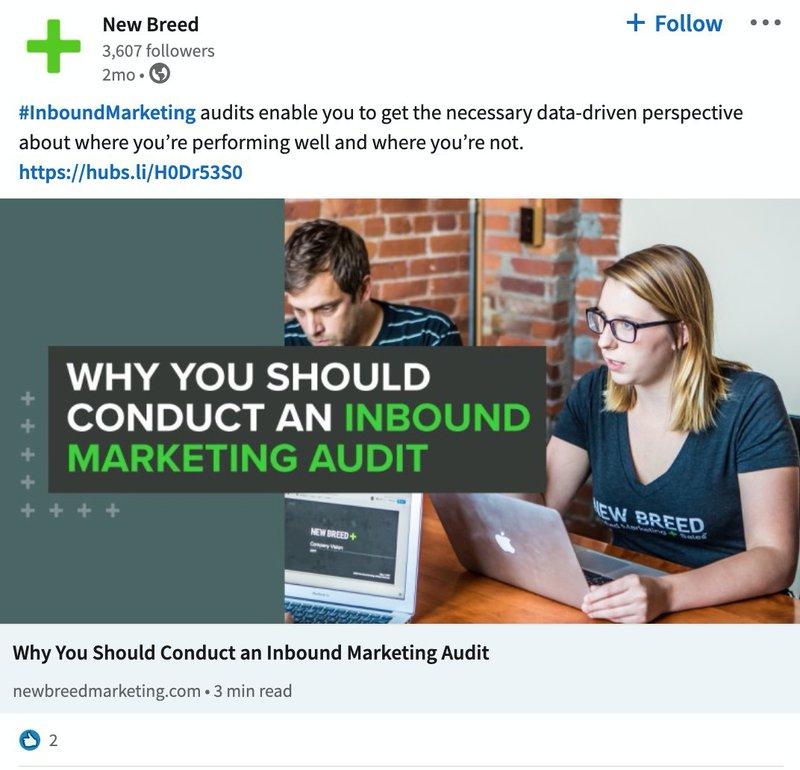 B2B LinkedIn Ad Examples: New Breed