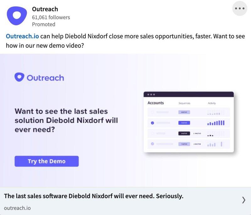 B2B LinkedIn Ad Examples: Outreach