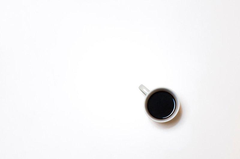 minimalist black coffee