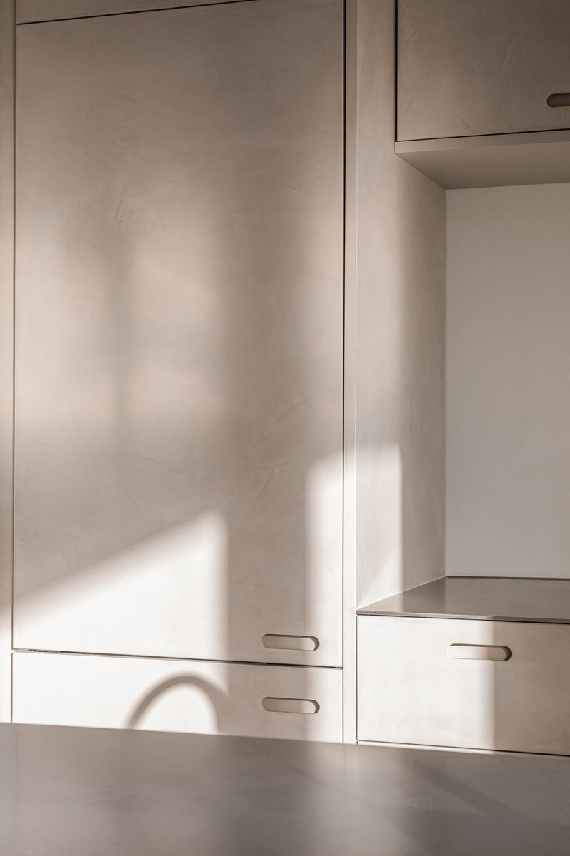 Firmax Texture keuken Brussel met zonlicht