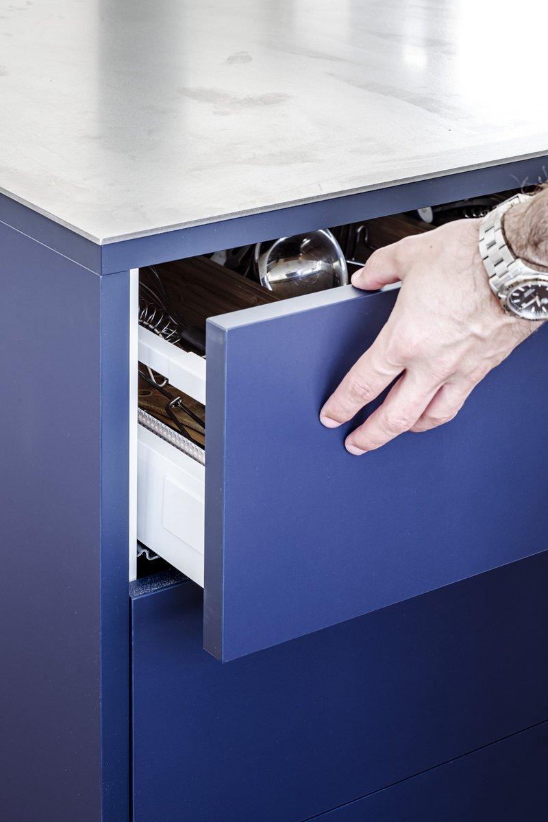 Firmax openen van lade Ikea Metod met ladefront in Fenix