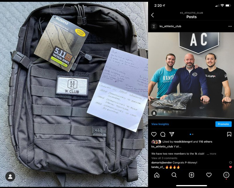 Who wouldn't stay a member at your gym if you gave them this nice bag - Customer Retention!!!