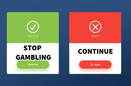 Pop-ups can help problem gamblers manage their impusles