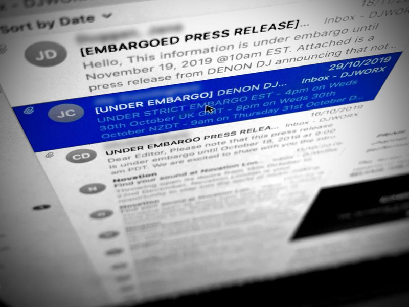 Product launch press release: Use embargoes wisely