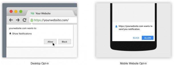 Web Push Notifications - Less demanding than lead capture