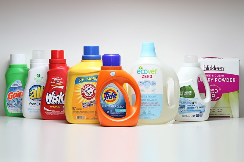 different brands of laundry detergents - Effects of detergent