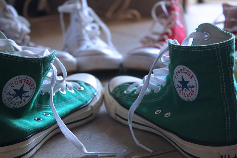 Green Converse Shoes