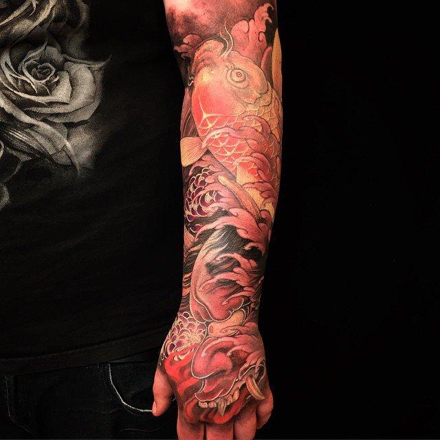 JF Trudel tattooed by Shige