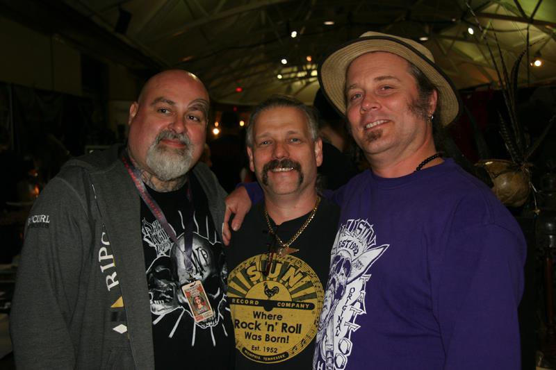 Dan Allaston with Damian McGrath and Mike Austin