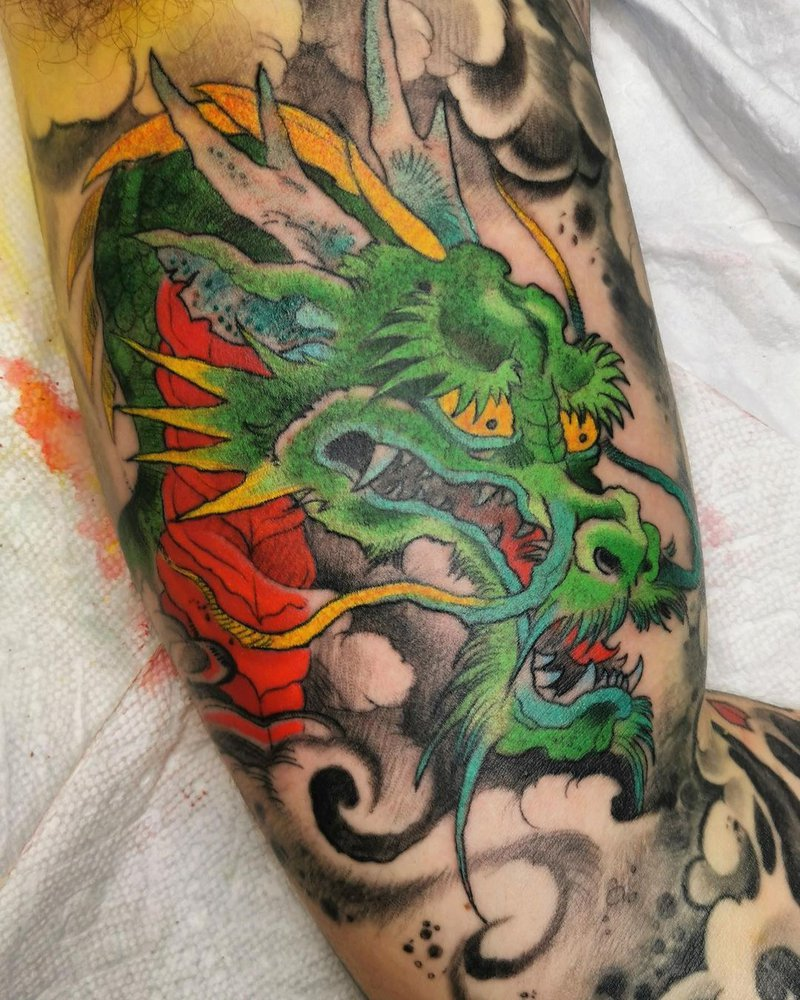Mike Austin Dragon tattoo