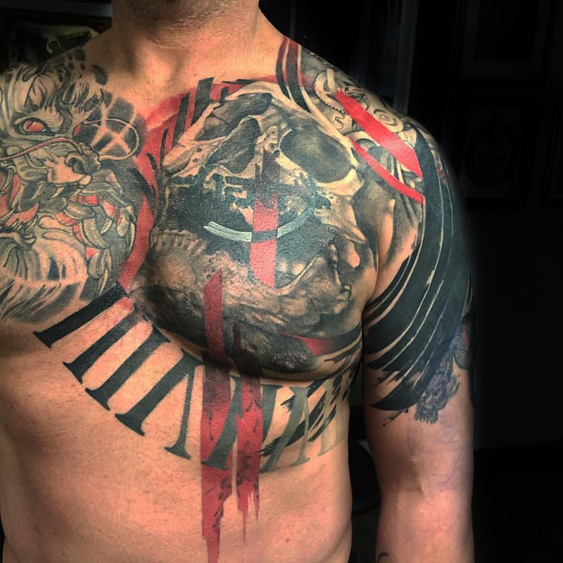 Chest piece by Jo Colette