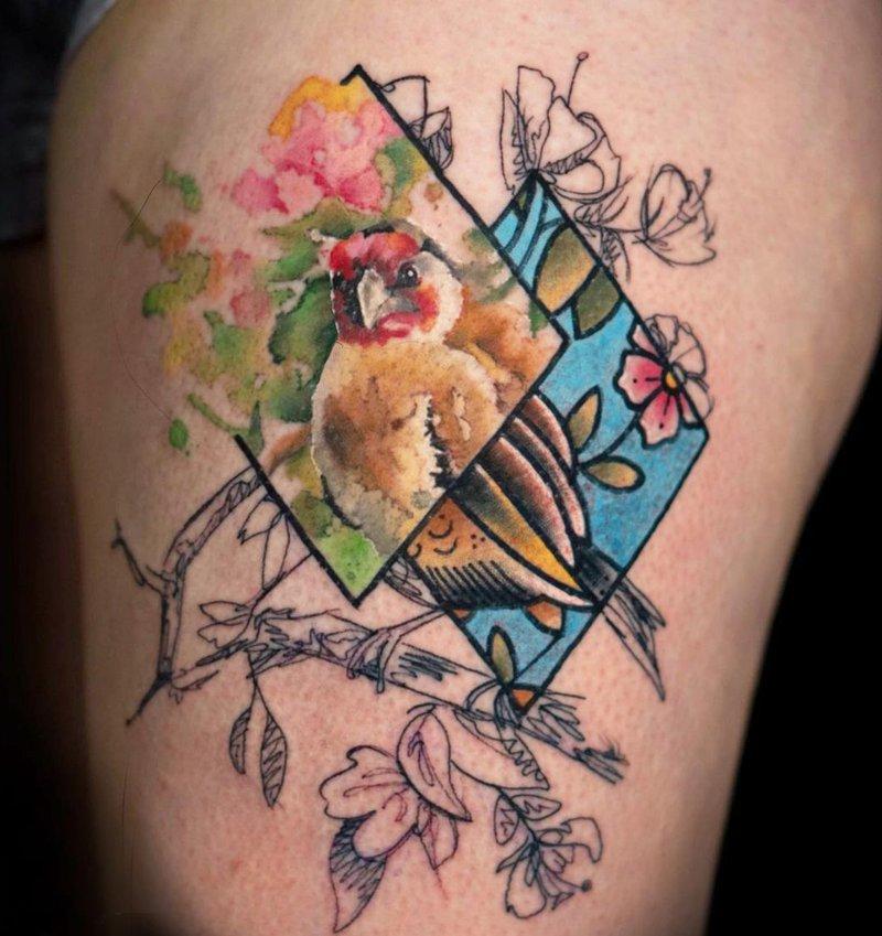 JF Biron Watercolour tattoo