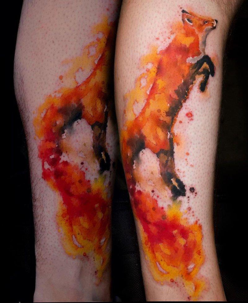 JF Biron Fox Tattoo