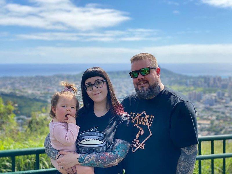 Charlie, Katrina and Corey in Hawaii 2020