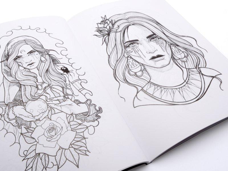 Tattoo Book - Aline Torchia Sketchbook