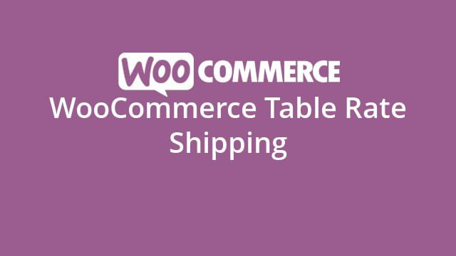 woocommerce table rate shipping plug-in