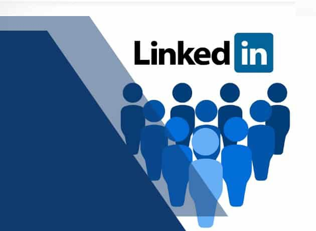 Linkedin Marketing logo with coordinating colors