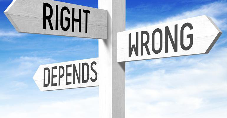 """It depends"" - true, but not helpful"
