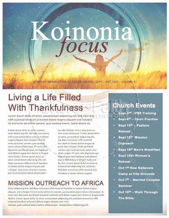 mixed up church newsletter