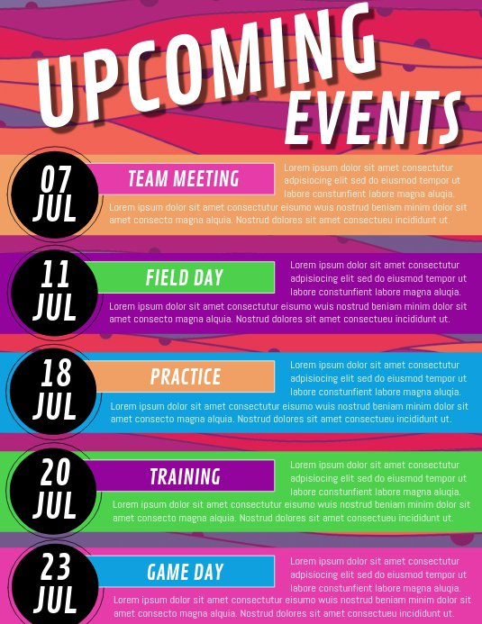 upcoming events church newsletter