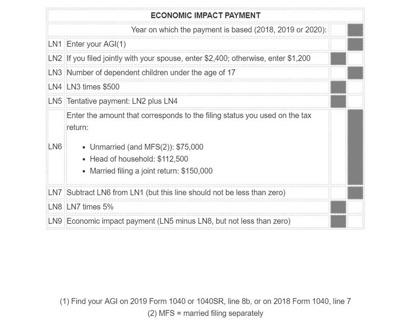 economic impact payments chart