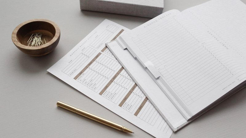 basis, notebook and office supplies