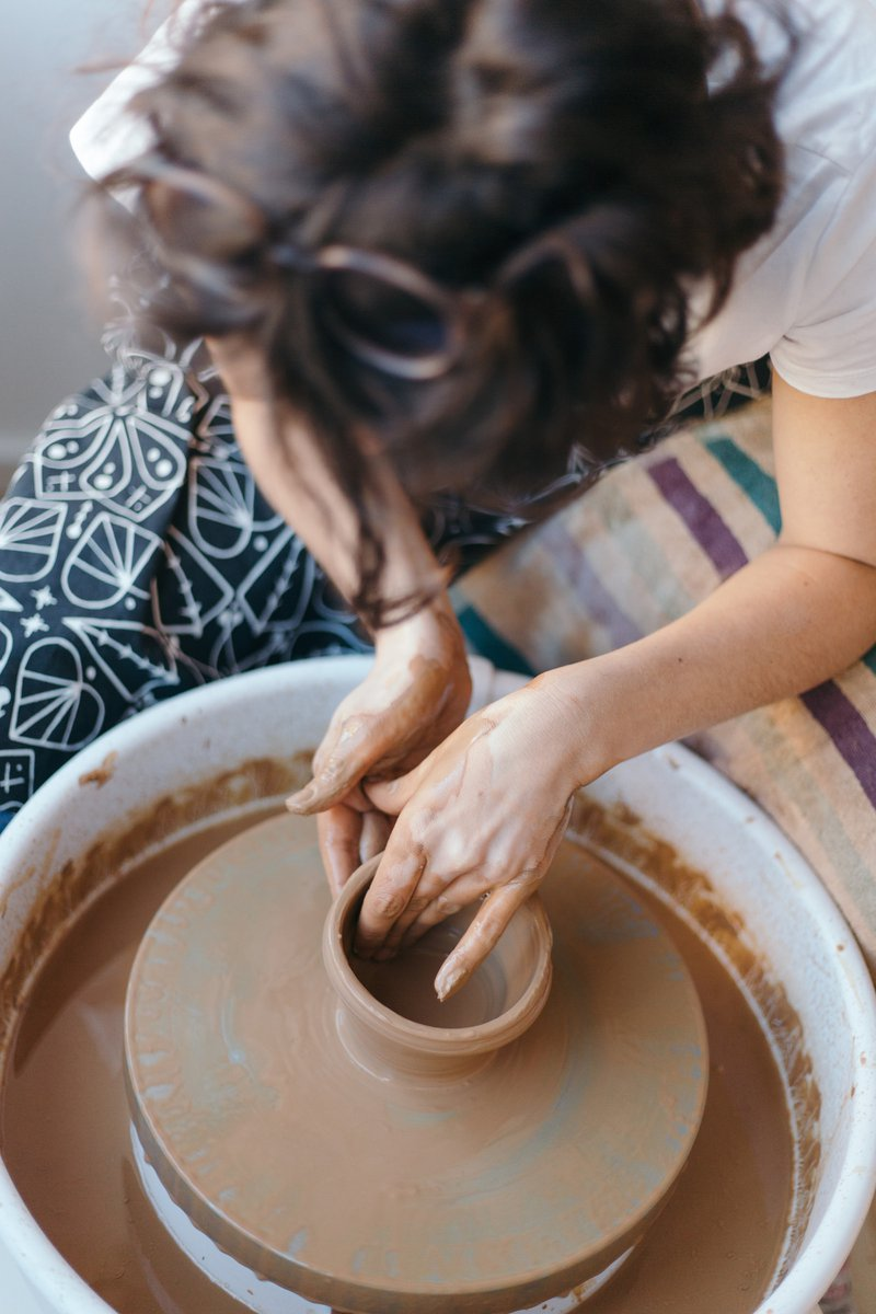 potter at wheel; not-for-profit (hobby) vs for-profit business