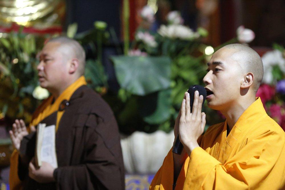 Monks throat singing