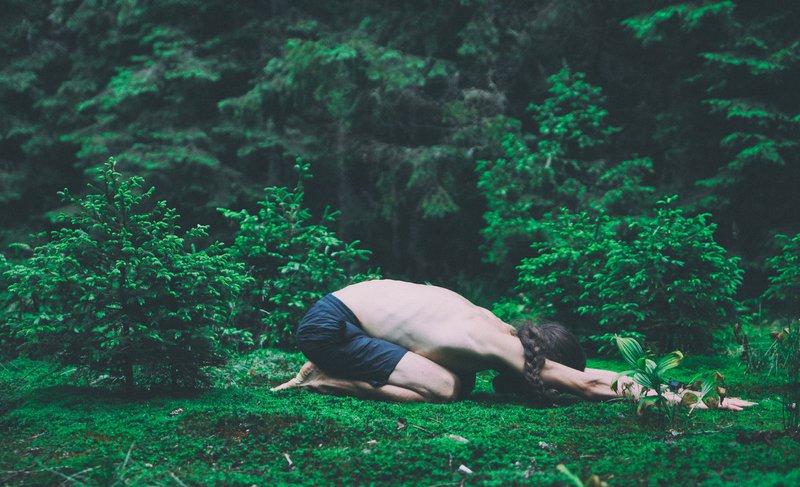 Child's yoga pose