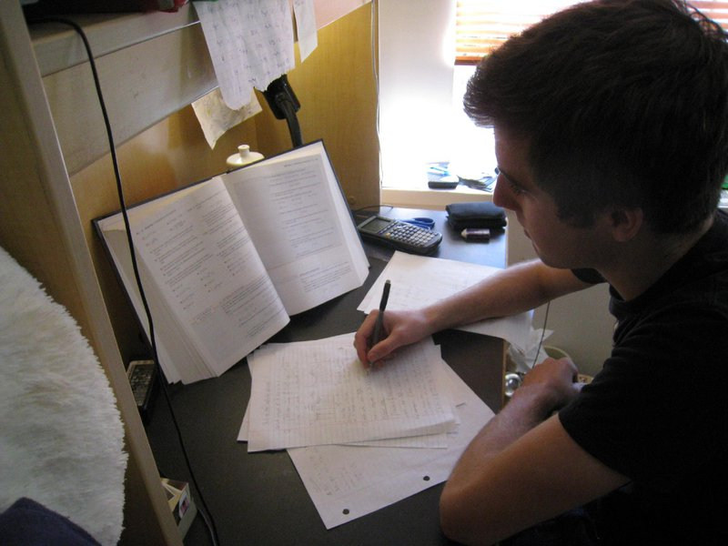 College stress from academic pressure