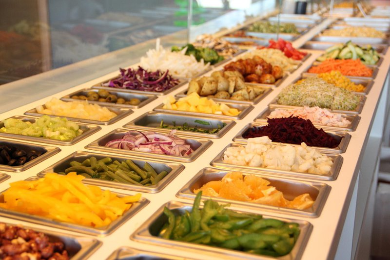 Image of a salad buffet to indicate the numerous career choices available today.