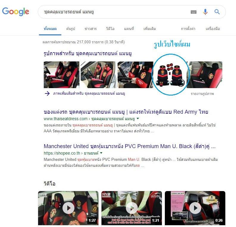 ตัวอย่างรูปมุ่งหวังบน Google Image Search