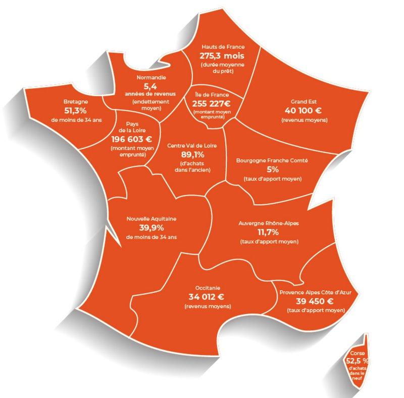Carte de France du primo-accédant