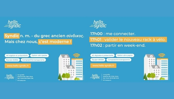 Hello Syndic - campagne affichage