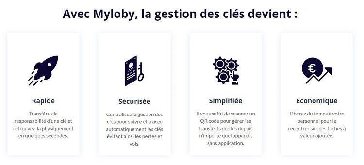 Myloby gestionnaire de clés