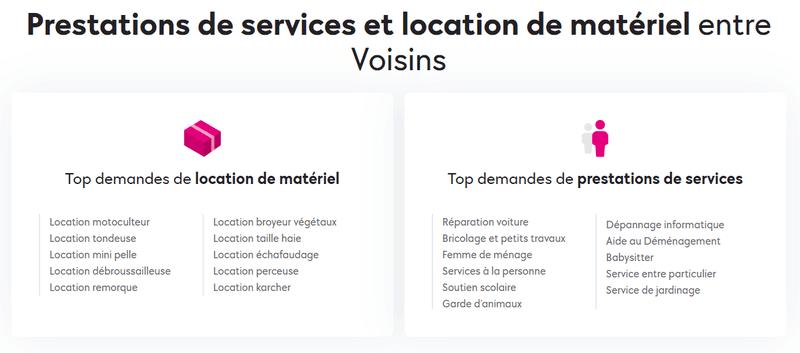 AlloVoisins - prestations de services entre voisins