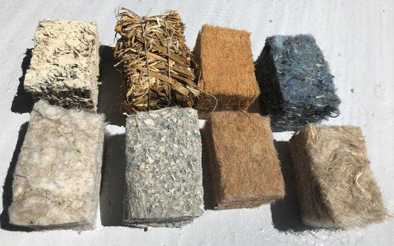 Exemples de matériaux biosourcés