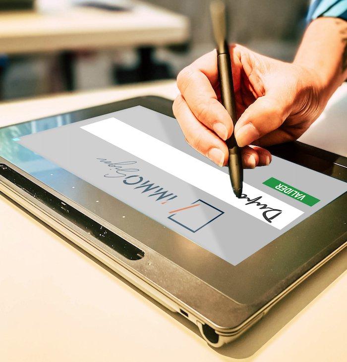 écriture numérique de la mention manuscrite