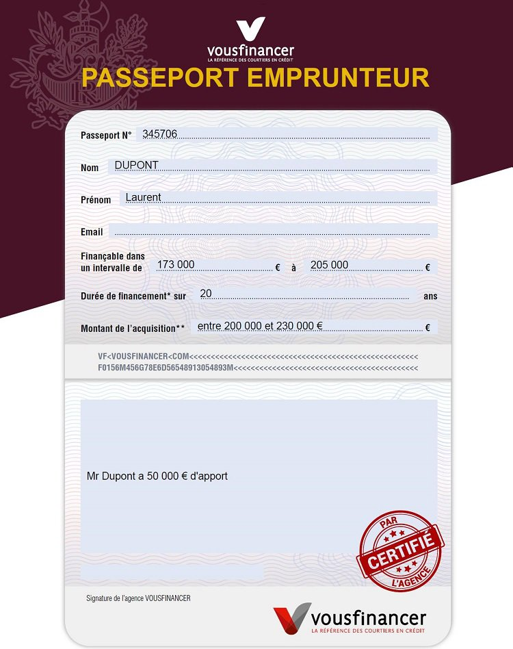 passeport emprunteur